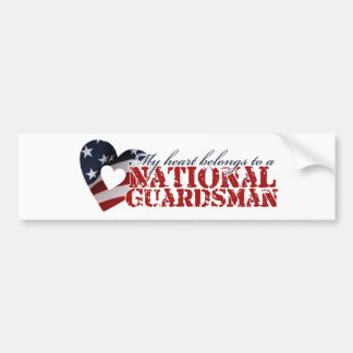 My heart belongs to a National Guardsman Bumper Sticker