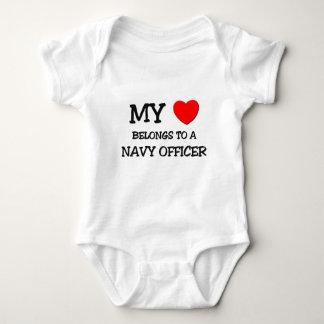 My Heart Belongs To A NAVY OFFICER Baby Bodysuit