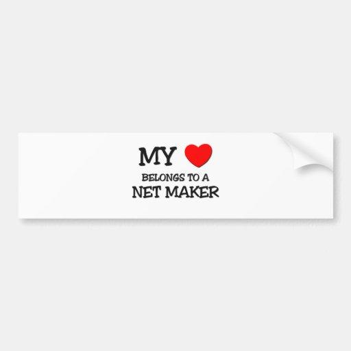 My Heart Belongs To A NET MAKER Bumper Stickers