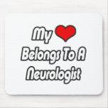 My Heart Belongs To A Neurologist Mousepad