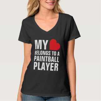 My heart belongs to a Paintball Player T-Shirt