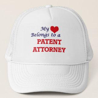 My heart belongs to a Patent Attorney Trucker Hat