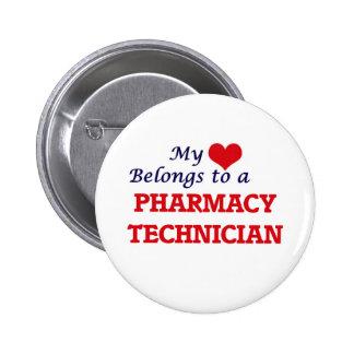 My heart belongs to a Pharmacy Technician 6 Cm Round Badge
