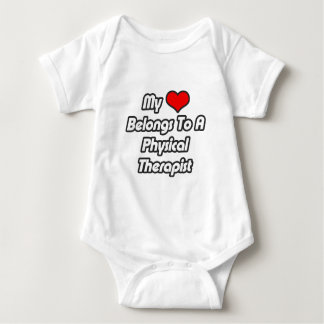 My Heart Belongs To A Physical Therapist Baby Bodysuit