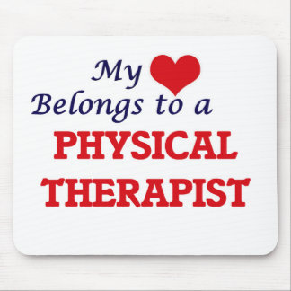 My heart belongs to a Physical Therapist Mouse Pad