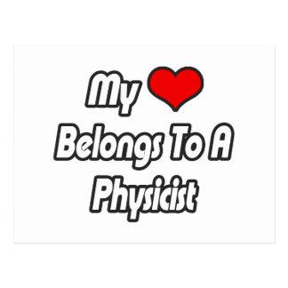 My Heart Belongs To A Physicist Postcard