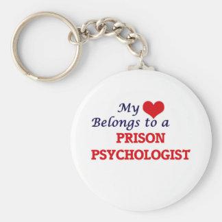My heart belongs to a Prison Psychologist Key Ring