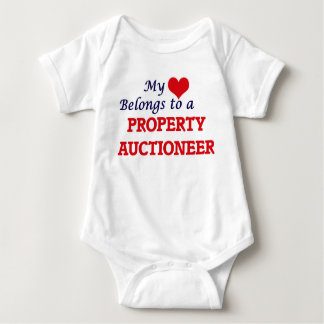 My heart belongs to a Property Auctioneer Baby Bodysuit