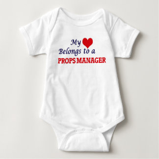 My heart belongs to a Props Manager Baby Bodysuit
