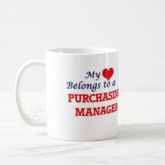 My heart belongs to a Purchasing Manager Basic White Mug