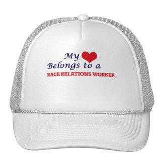 My heart belongs to a Race Relations Worker Cap