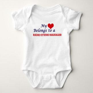 My heart belongs to a Radio Studio Manager Baby Bodysuit