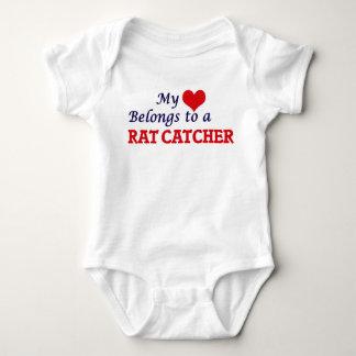 My heart belongs to a Rat Catcher Baby Bodysuit