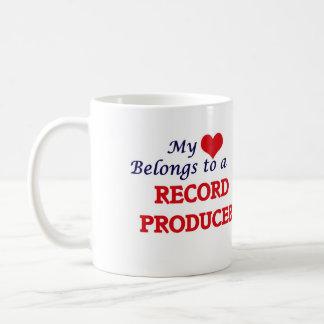 My heart belongs to a Record Producer Coffee Mug
