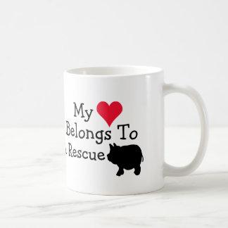 My Heart Belongs To A Rescue Mini Pig Coffee Mug