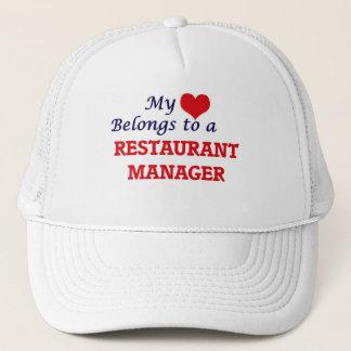 My heart belongs to a Restaurant Manager Trucker Hat