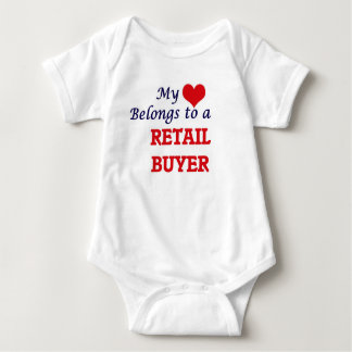 My heart belongs to a Retail Buyer Baby Bodysuit