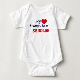 My heart belongs to a Saddler Baby Bodysuit