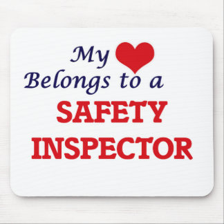 My heart belongs to a Safety Inspector Mouse Pad