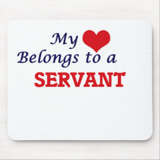 My heart belongs to a Servant Mouse Pad