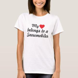 My heart belongs to a Snowmobiler T-Shirt