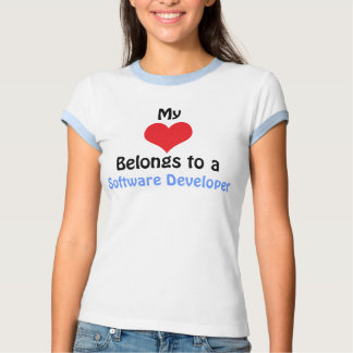 My Heart Belongs to a software Developer T Shirt