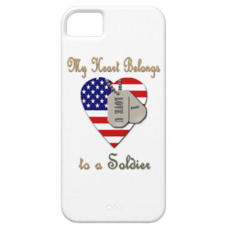 My Heart Belongs to A Soldier iPhone 5 Cover