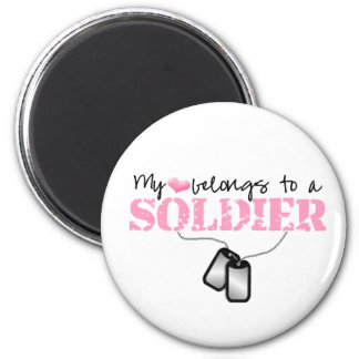 My Heart Belongs To A Soldier Magnet