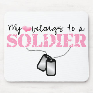 My Heart Belongs To A Soldier Mouse Pad