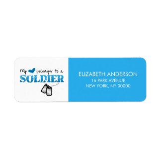 My Heart Belongs To A Soldier Return Address Label
