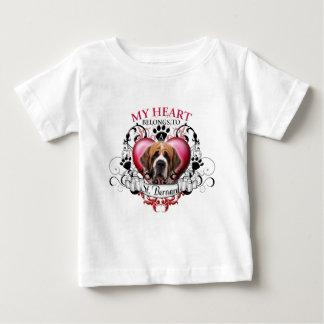 My Heart Belongs to a St Bernard Baby T-Shirt