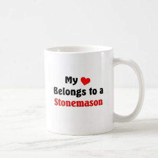 My heart belongs to a stonemason coffee mug
