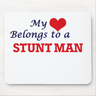 My heart belongs to a Stunt Man Mouse Pad