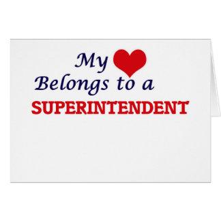 My heart belongs to a Superintendent Card