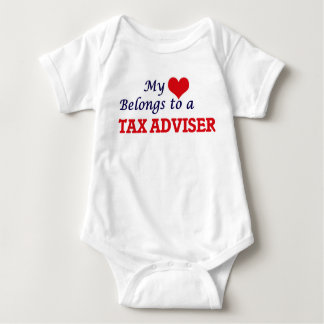 My heart belongs to a Tax Adviser Baby Bodysuit