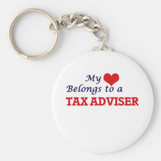 My heart belongs to a Tax Adviser Key Ring