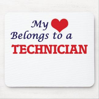My heart belongs to a Technician Mouse Pad