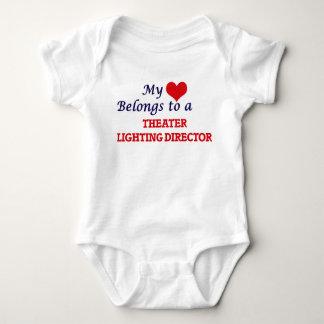 My heart belongs to a Theater Lighting Director Baby Bodysuit