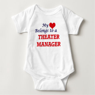 My heart belongs to a Theater Manager Baby Bodysuit