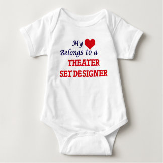My heart belongs to a Theater Set Designer Baby Bodysuit