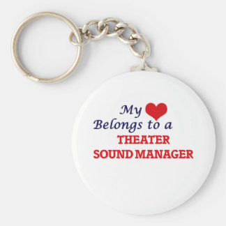 My heart belongs to a Theater Sound Manager Key Ring