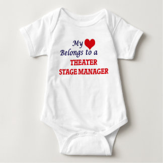 My heart belongs to a Theater Stage Manager Baby Bodysuit