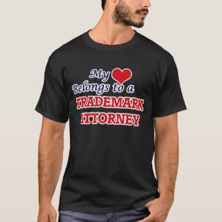 My heart belongs to a Trademark Attorney T-Shirt