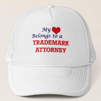 My heart belongs to a Trademark Attorney Trucker Hat
