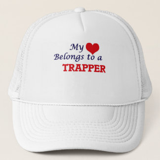 My heart belongs to a Trapper Trucker Hat
