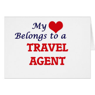 My heart belongs to a Travel Agent Card