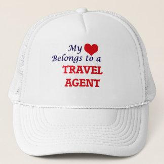My heart belongs to a Travel Agent Trucker Hat