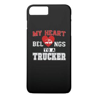 My heart belongs to a Trucker iPhone 7 Plus Case