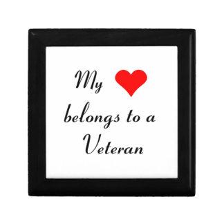 """My Heart Belongs to a Veteran"" Gift Box"