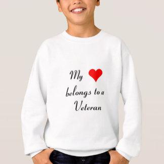 """My Heart Belongs to a Veteran"" Sweatshirt"
